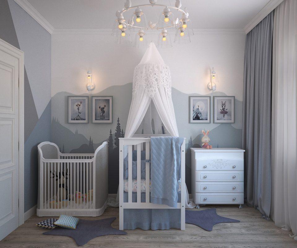 Murs colorés dans chambres d\'enfant - Par MRC pour Pétale de Carreaux